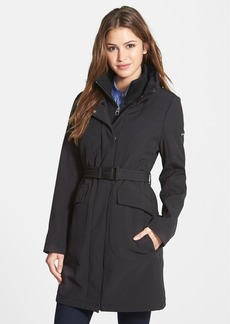 Calvin Klein Belted Soft Shell Coat with Front Insert