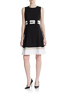 Calvin Klein Belted Stripe Dress