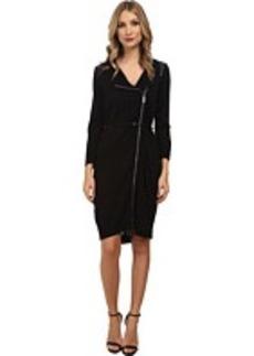 Calvin Klein Belted Zip Front Sweater Dress