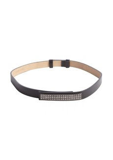 Calvin Klein black and crystal faux leather waist belt