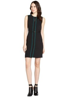 Calvin Klein black and green tank dress with belt