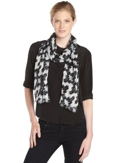 Calvin Klein black and white ikat print scarf