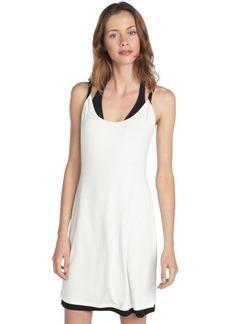 Calvin Klein black and white reversible twist tank coverup dress