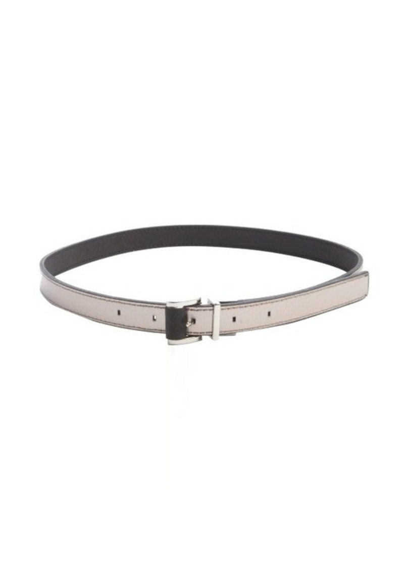 Calvin Klein black faux leather 'Saffiano' medium reversible belt
