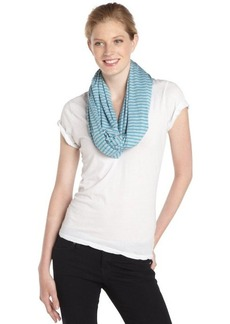 Calvin Klein blue and grey striped jersey infinity scarf