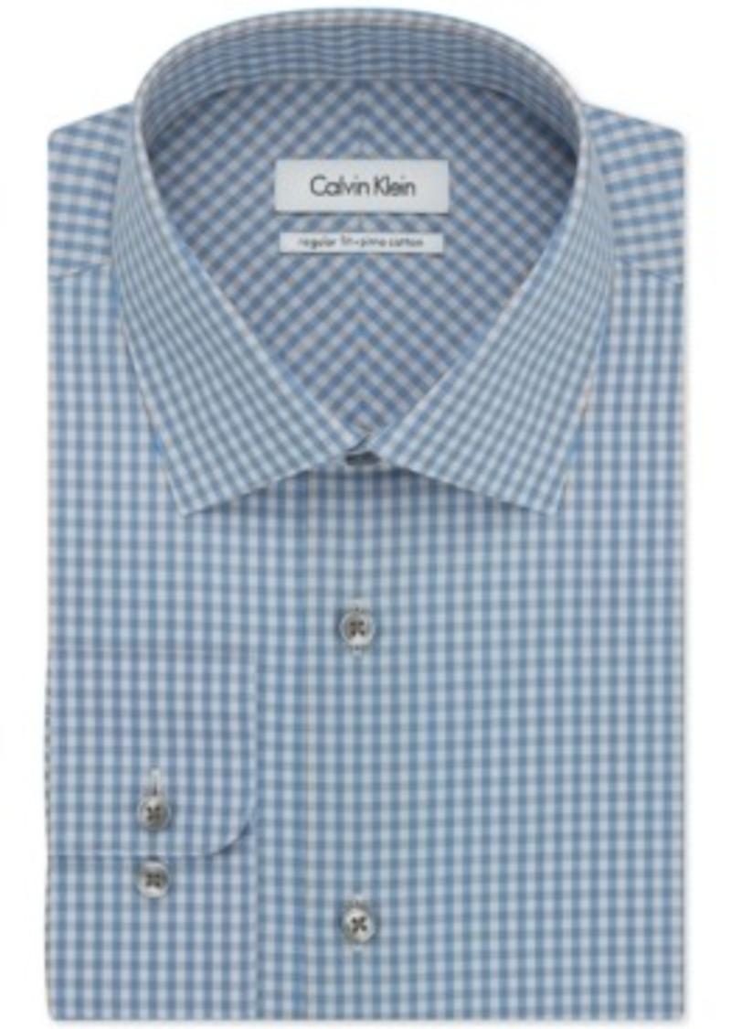 Calvin Klein Calvin Klein Blue Stone Gingham Dress Shirt