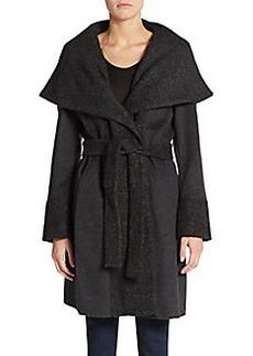 Calvin Klein Bouclé Wrap Coat