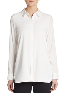 Calvin Klein Box-Pleated Blouse