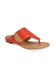 Calvin Klein 'Briona' Leather Thong Sandal (Women)