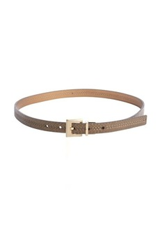 Calvin Klein bronze and snake embossed bronze reversible skinny belt