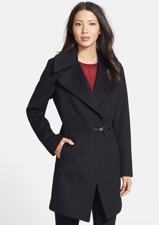 Calvin Klein Buckle Closure Wool Blend Coat