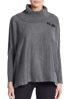 Calvin Klein Buckled Sweater Cape