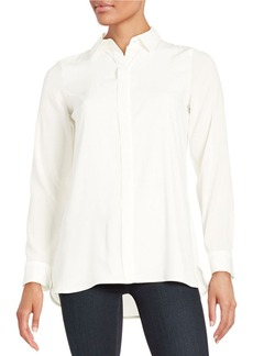 CALVIN KLEIN Button Front Blouse