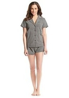 Calvin Klein Button Up Shorts Pajama Set