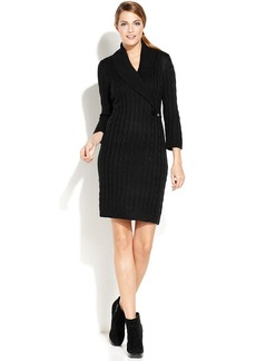 Calvin Klein Cable-Knit Sweater Dress