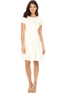 Calvin Klein Cap Sleeve Fit & Flare Dress