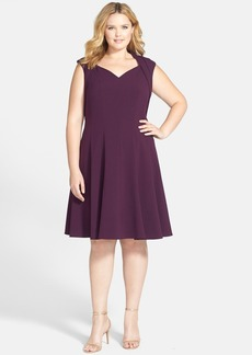 Calvin Klein Cap Sleeve Fit & Flare Dress (Plus Size)
