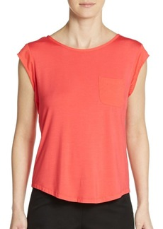 Calvin Klein Cap-Sleeve Pocket Top