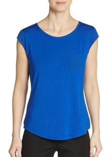 Calvin Klein Cap-Sleeve Pocket Top