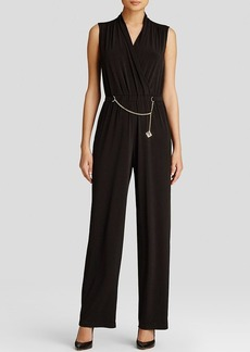 Calvin Klein Chain Belt Sleeveless Jumpsuit