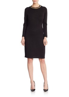 Calvin Klein Chain-Detailed Knit Dress