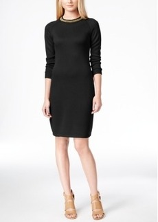 Calvin Klein Chain-Trim Sweater Dress