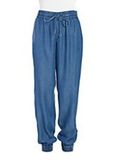 CALVIN KLEIN Chambray Drawstring Pants