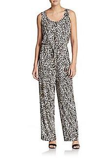 Calvin Klein Cheetah Print Wide-Leg Jumpsuit