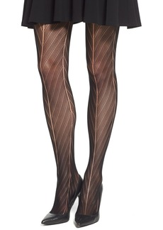 Calvin Klein Chevron Openwork Sheer Tights