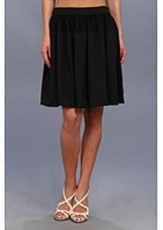Calvin Klein Chiffon Detail Pleated Circle Skirt