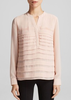 Calvin Klein Chiffon Pleat Blouse