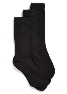Calvin Klein Classic Rib Socks (3-Pack)