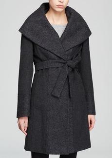 Calvin Klein Coat - Belted Wool Wrap