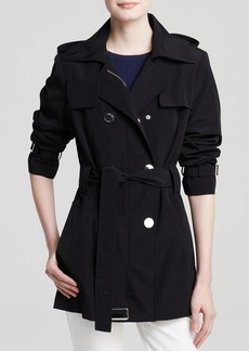 Calvin Klein Coat - Double-Breasted Trench
