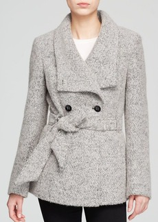 Calvin Klein Coat - Wrap Boucle Wool