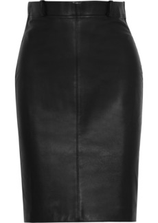 Calvin Klein Collection Leather and cashmere-blend pencil skirt