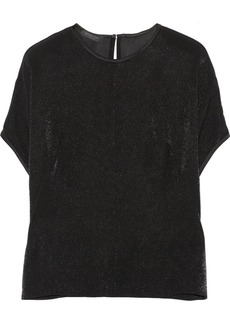 Calvin Klein Collection Metallic satin top