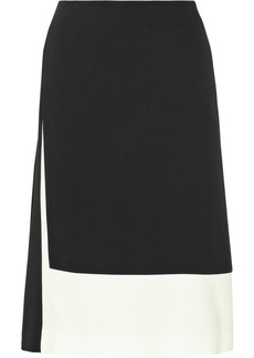 Calvin Klein Collection Tiana color-block crepe skirt