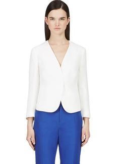 Calvin Klein Collection White Gauze Kendyll Blazer