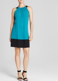 Calvin Klein Color Block Halter Dress