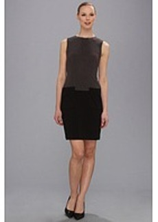 Calvin Klein Color Block Ponte Dress w/ Pockets