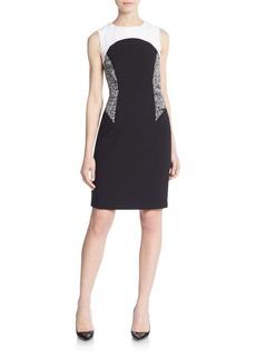 Calvin Klein Colorblock Geometric-Print Dress
