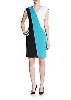 Calvin Klein Colorblock Jersey Knit Dress