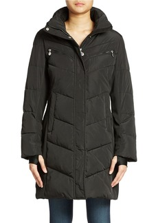 CALVIN KLEIN Colorblock Puffer Coat
