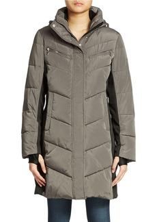 CALVIN KLEIN Colorblock Puffer Coat