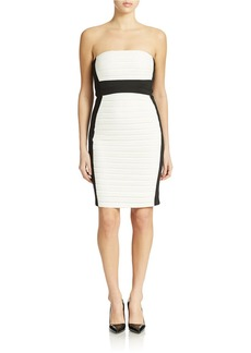 CALVIN KLEIN Colorblock Strapless Dress
