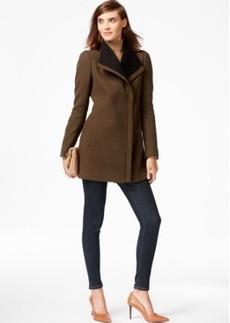 Calvin Klein Colorblocked Asymmetrical Walker Coat