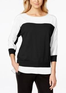 Calvin Klein Colorblocked Dolman-Sleeve Top