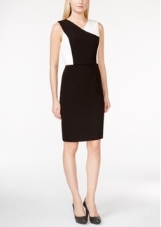 Calvin Klein Colorblocked V-Neck Dress