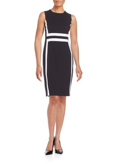 Calvin Klein Contrast Paneled Sheath Dress